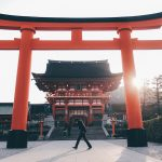 Giant torii gate outside Fushimi Inari Taisha Shrine in Kyoto, Japan Guide