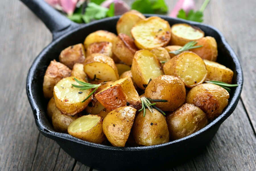 Potatoes fried in pan - Ketogenic Diet Guide
