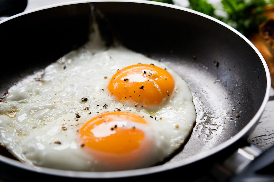 eggs on pan - Ketogenic Diet Guide