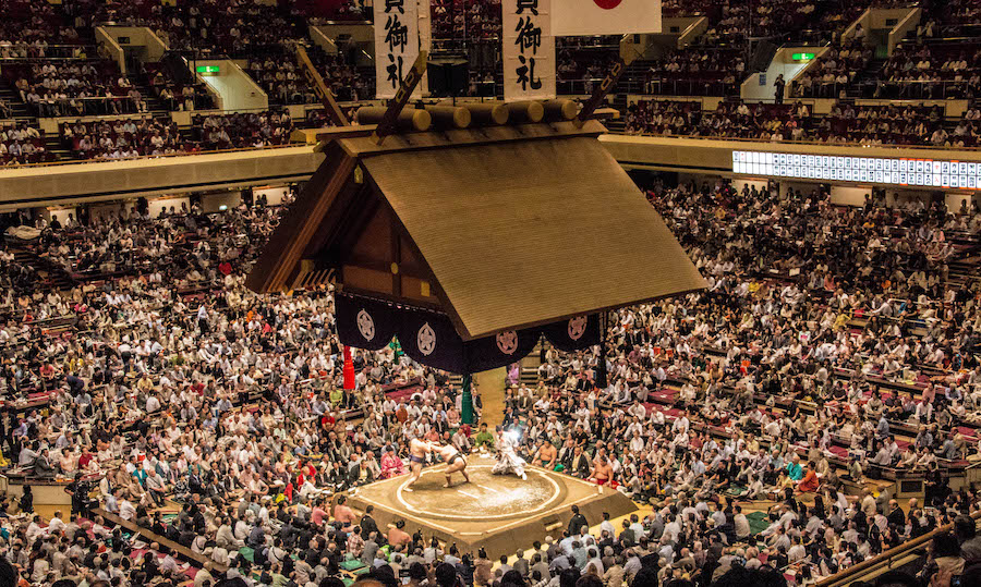 sumo grand tournament - top japanese festival