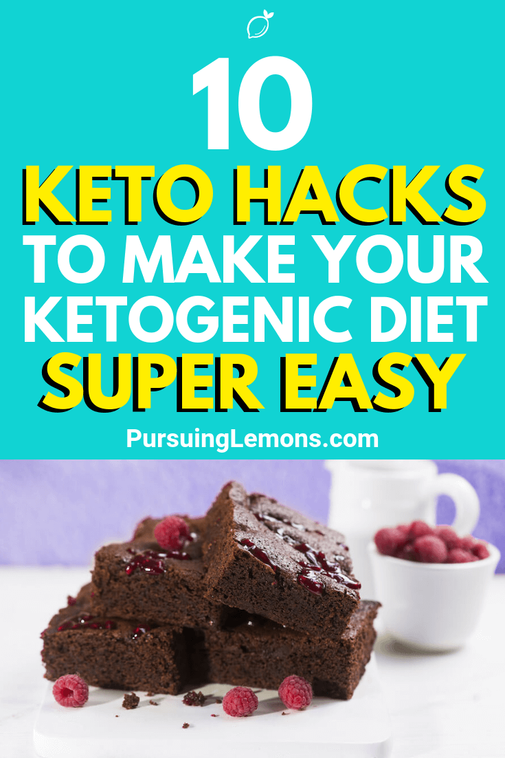 The ketogenic diet can be hard to follow through. To make things easier, here are some keto hacks that make your keto diet effortless!