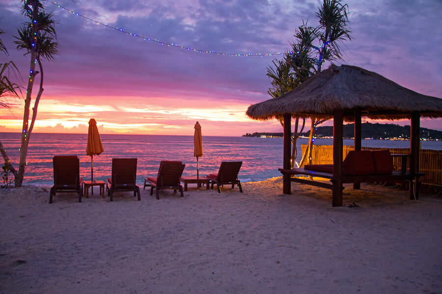 Beautiful sunset at the beach on Gili Meno Indonesia Asia - Places To Visit