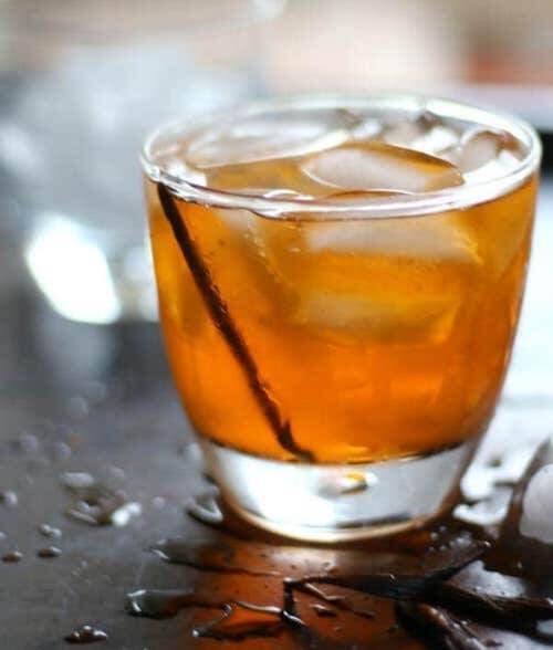 Vanilla Old Fashioned Cocktail - Keto cocktail recipes