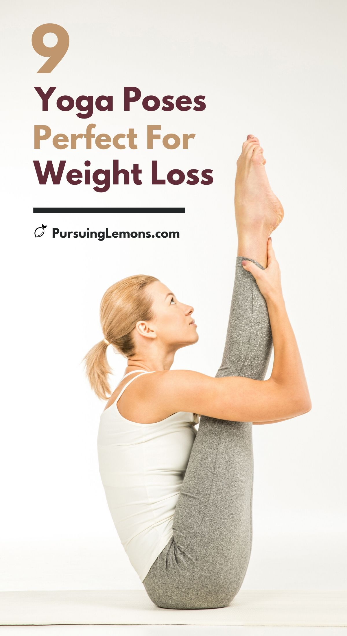 9 Best Yoga Poses for Weight Loss | Shred those extra pounds and live a healthy lifestyle today! Start practicing these yoga poses for weight loss designed to burn fats and strengthen muscles. #yoga #weightloss #weightlossyoga