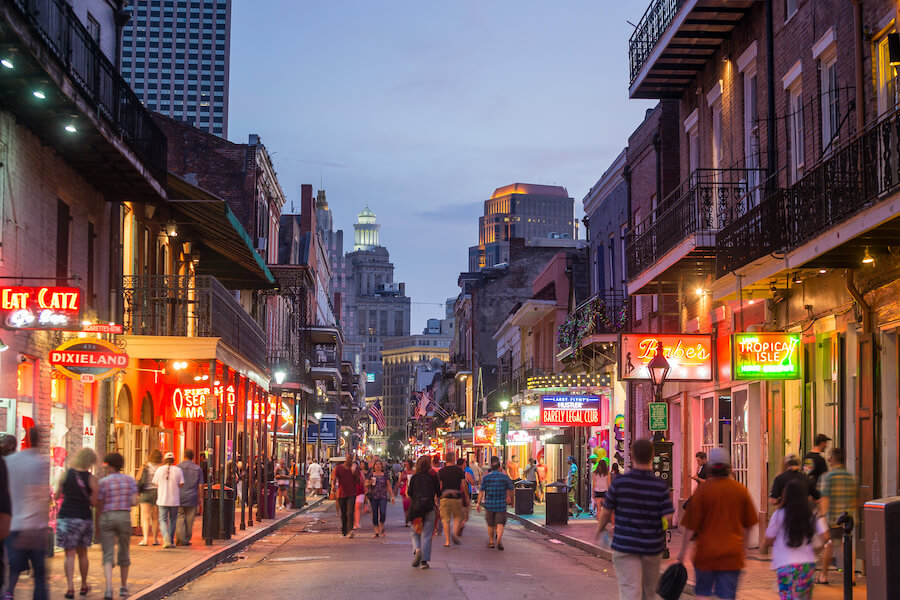 French Quarter, downtown New Orleans - Places to visit in the USA