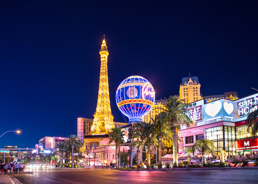 Las Vegas Nevada Night - Places to visit in the USA