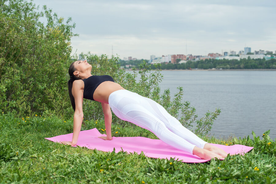 reverse plank - Yoga Poses for Weight Loss