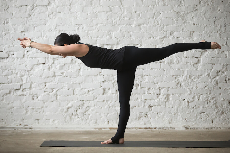 warrior three - Yoga Poses for Weight Loss