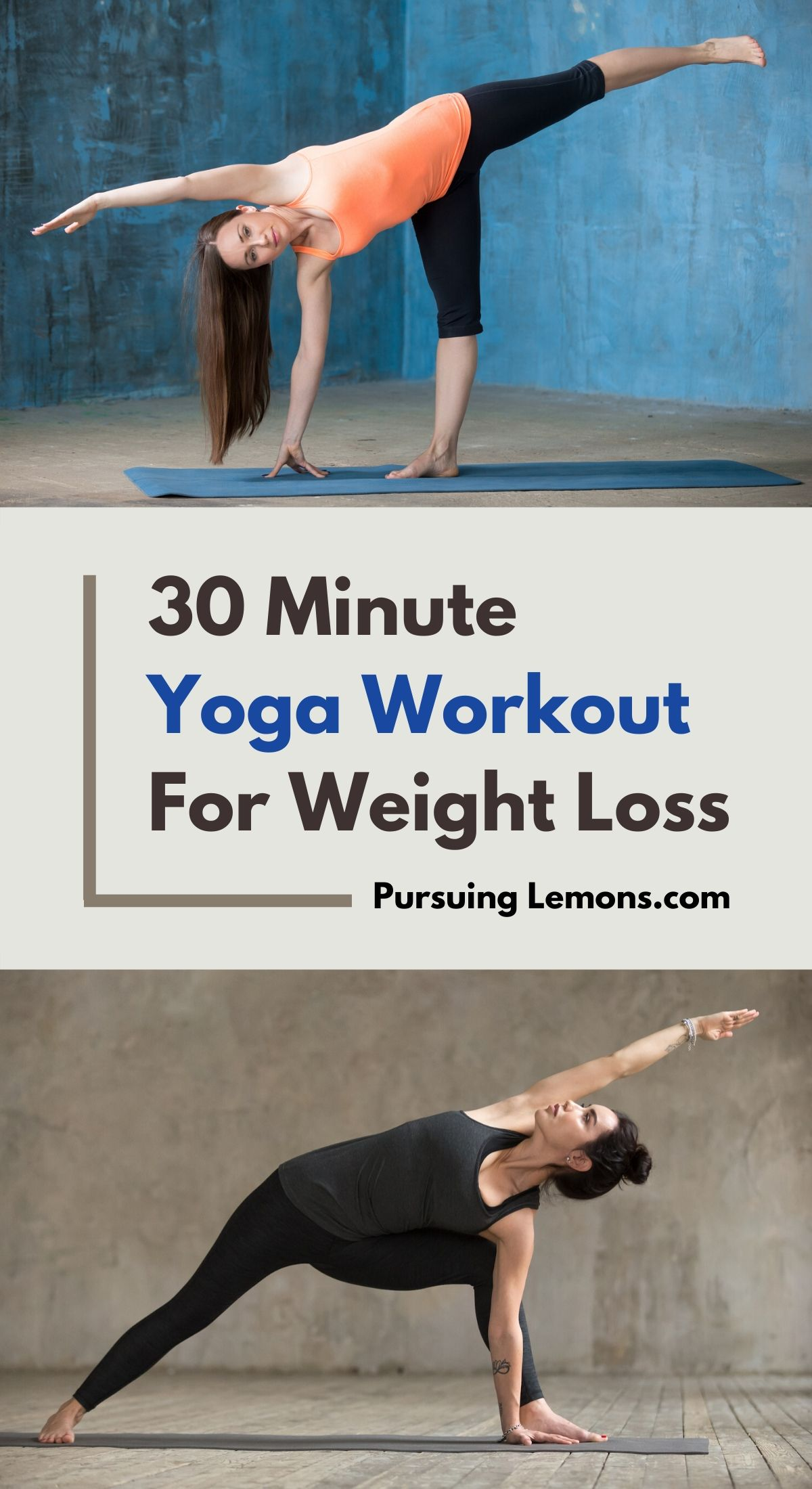 30 Minute Yoga Workout For Weight Loss   Yoga is a great low intensity workout alternative. This yoga routine will help you to lose weight and tone your body. Here's the yoga poses for weight loss that you can do anywhere! #yoga #weightloss #yogaforweightloss