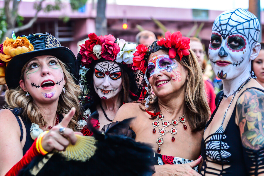 Four Women Day of the Dead Mexico - Best places to visit each month of the year