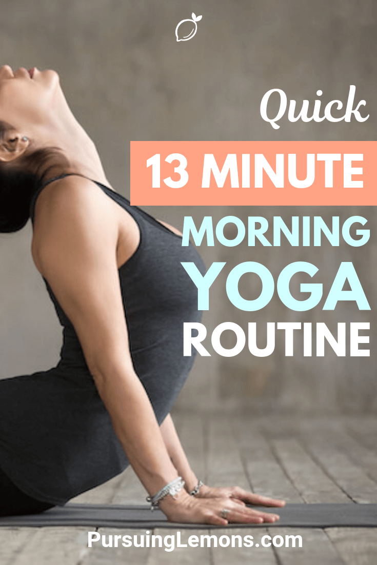 Start your day pumped and energized with this quick 13 minute morning yoga! It will help to activate your muscles and keep your blood flowing.