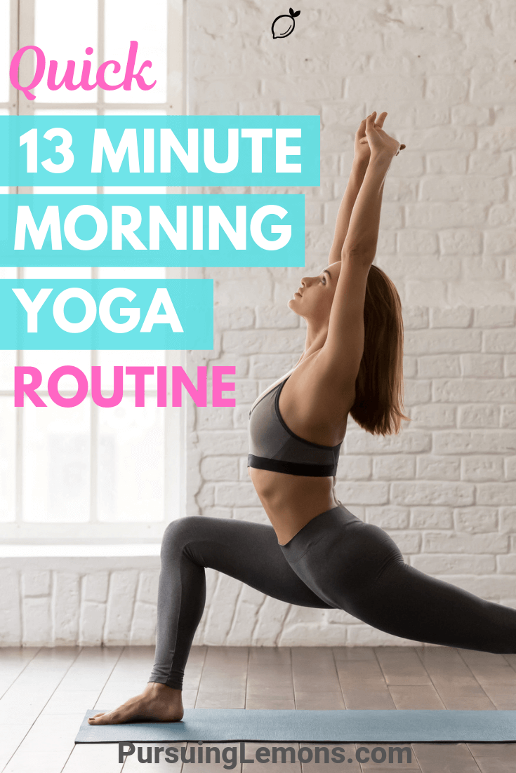 Start your day pumped and energized with this quick 13 minute morning yoga! It will help to activate your muscles and keep your blood flowing.  #yoga #yogaroutine #yogaworkout