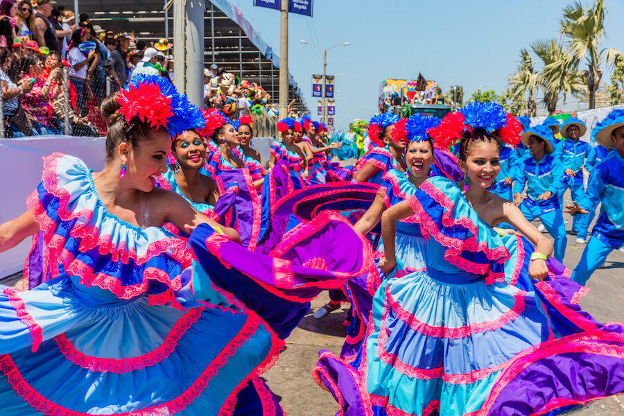 Parade carnival festival of Barranquilla Atlantico Colombia - Best places to visit each month of the year