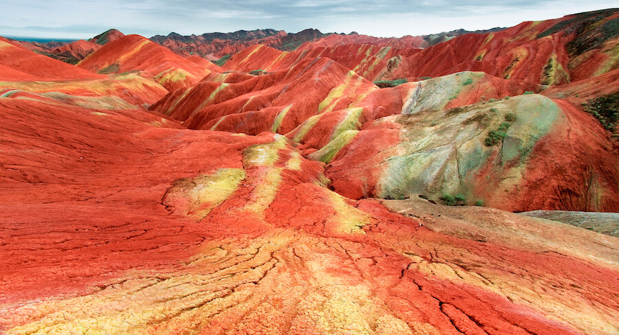 Scenery of Rainbow Mountain Danxia Landform Geological Park in Zhangye, China - Best places to visit each month of the year
