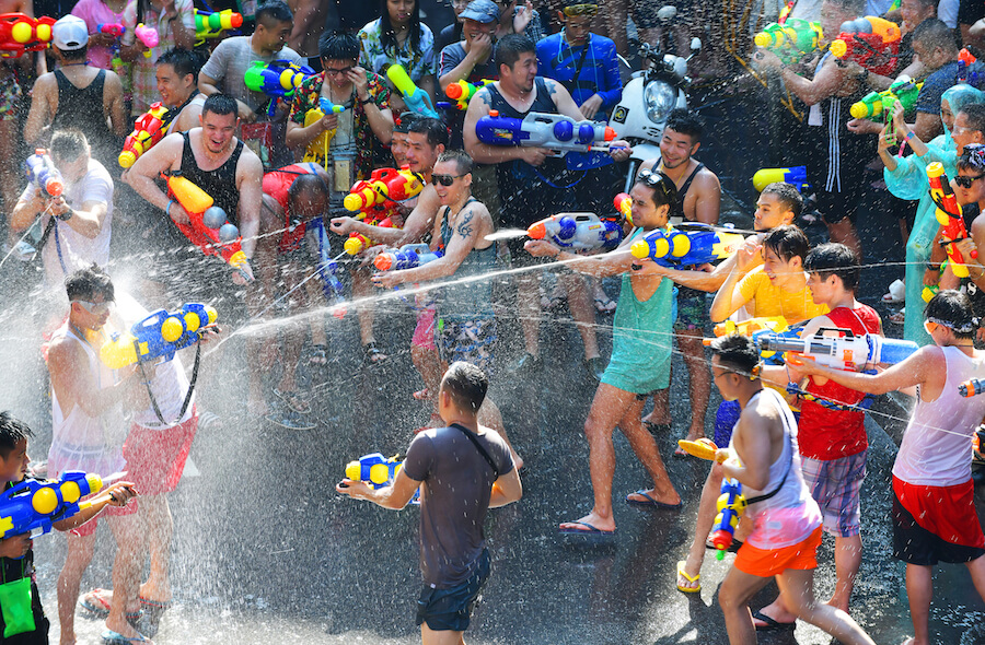 Songkran festival in Bangkok ,Thailand - Best places to visit each month of the year