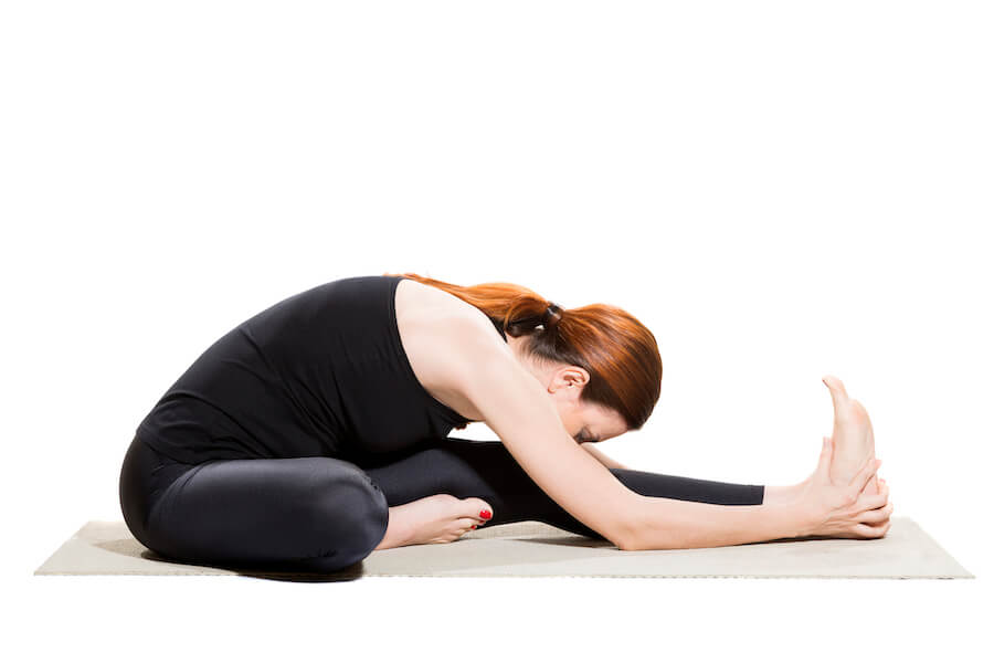 Yoga Head-to-Knee Forward Bend - Janu Sirsasana - yoga poses for flexibility