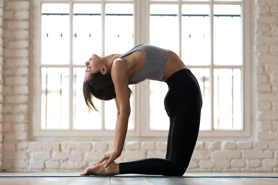 camel pose - yoga poses for plus-sized women