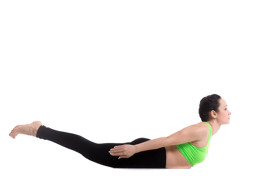 Locust yoga Pose - yoga workout for weight loss