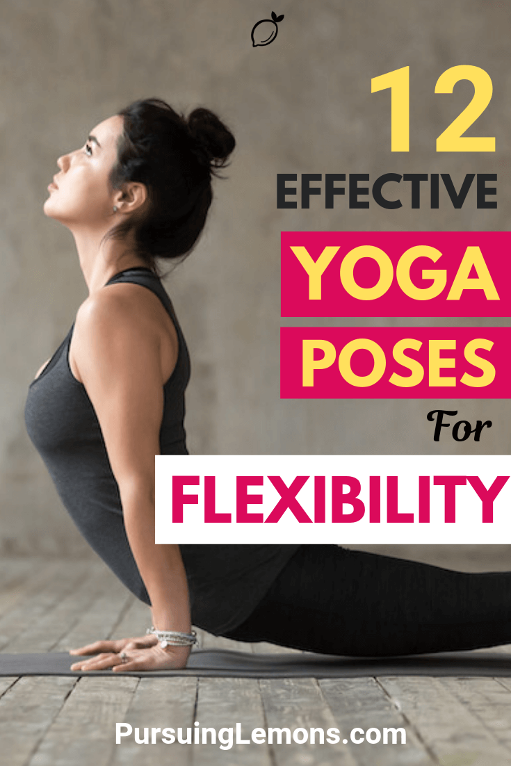 Yoga is an effective workout to improve your flexibility. Here are 9 yoga poses to increase flexibility in your hips, hamstrings, and back!