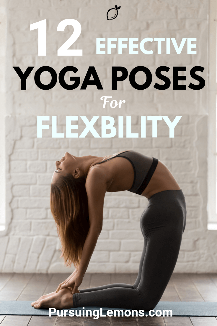 Yoga is an effective workout to improve your flexibility. Here are 9 yoga poses to increase flexibility in your hips, hamstrings, and back! #yoga #yogaforflexibility #flexibility
