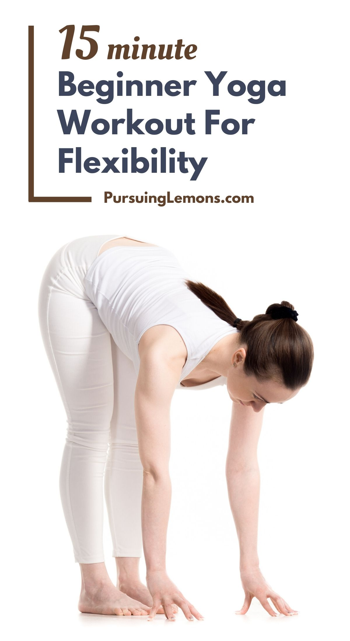 15 Minute Beginner Yoga Workout For Flexibility | These are the best beginner yoga poses to help you improve flexibility, relieve strain, back pain, and improve range of motion! #yoga #yogaforflexibility #yogaworkout