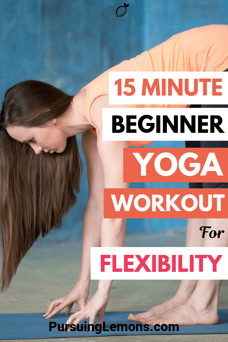 Constantly feeling stiff and tired? Improving your flexibility will solve that! This 15 minute yoga workout for flexibility is just what you need.