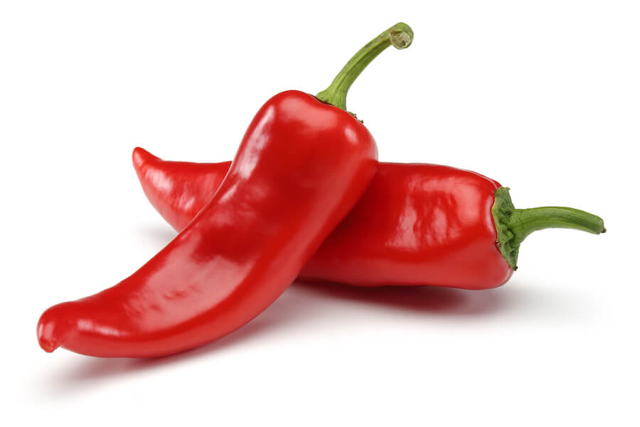 Red cayenne peppers - foods that burn belly fat