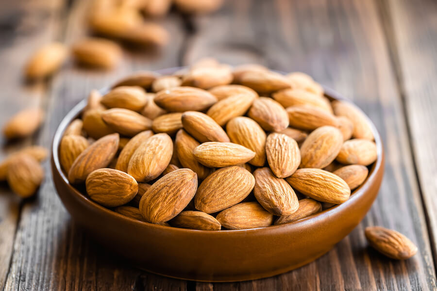 almond - foods that burn belly fat