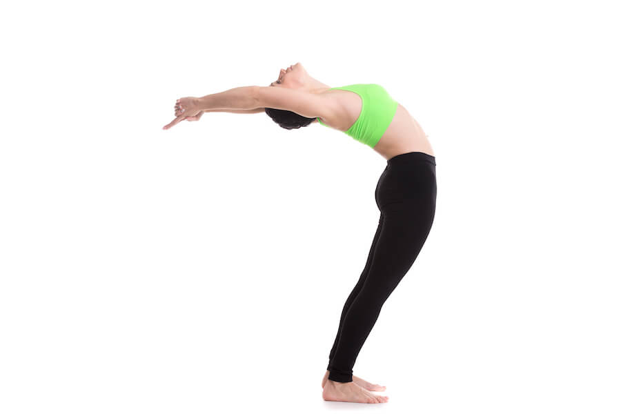 Standing Backward Bend (Ardha Chakrasana) Yoga Workout For Flexibility