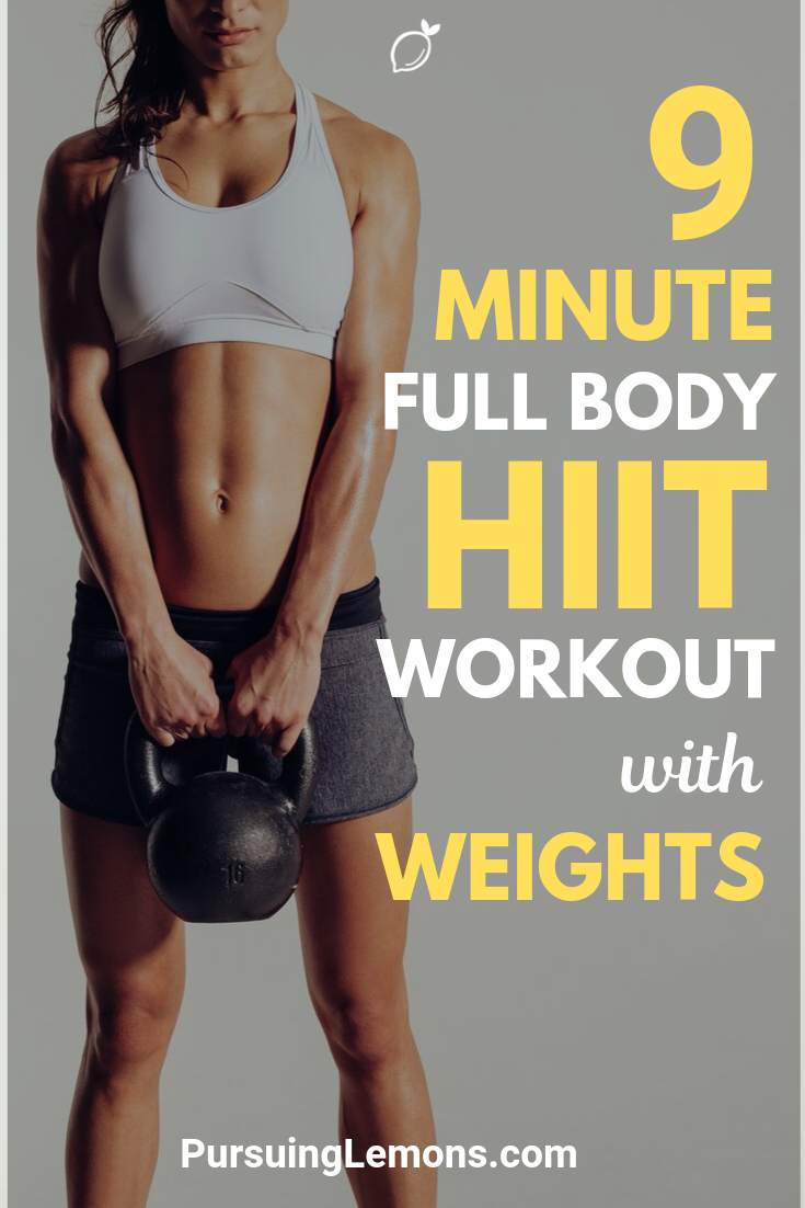 Full Body HIIT Workout With Weights | By adding weights into your HIIT workouts, you can expect to burn more fats and lose weight faster.