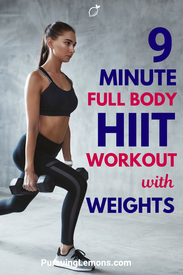Full Body HIIT Workout With Weights | They are great for burning fat and losing weight in a short amount of time!