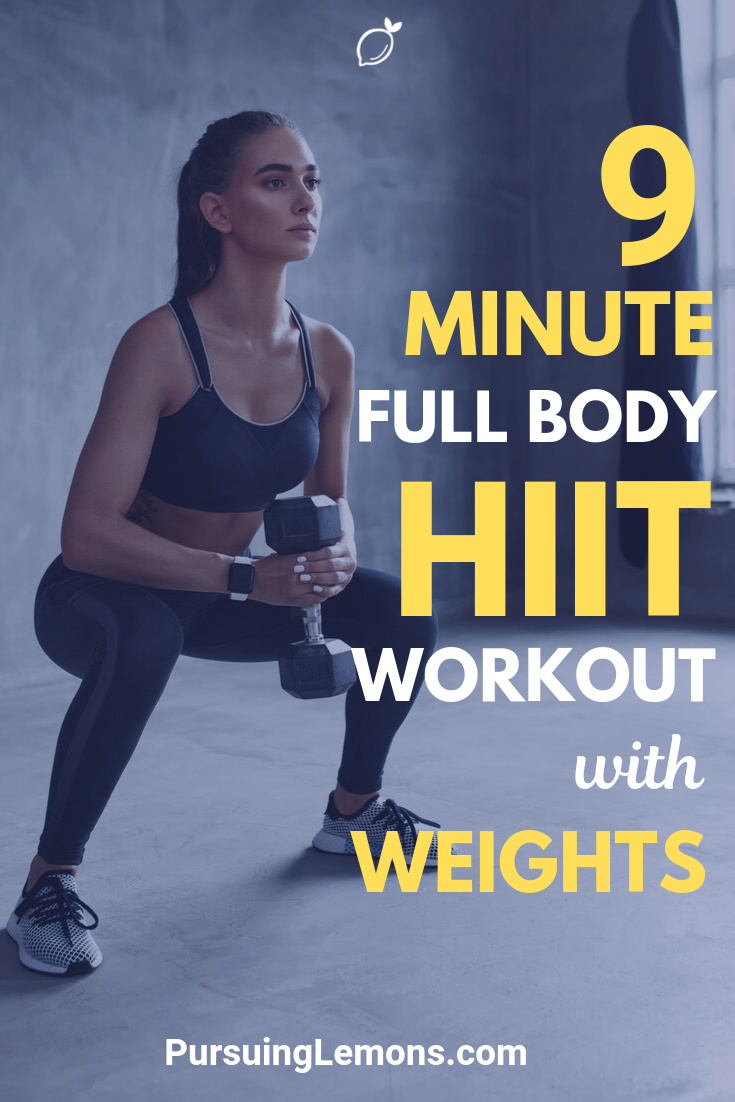Full Body HIIT Workout With Weights | We all know that High-intensity interval training is an awesome fat-burning workout. But, what's better is to do it with weights!
