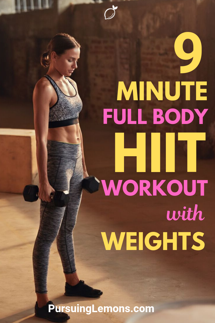 Full Body HIIT Workout With Weights | The traditional HIIT is already great for toning your body and burning calories. It's even better if you do it with weights!