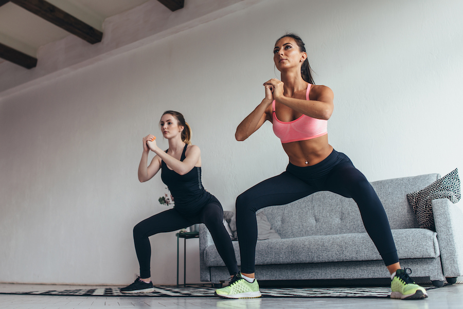 squats - strength training exercises for women over 50