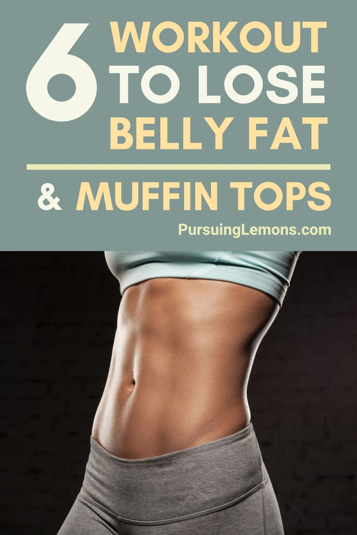 6 Workouts To Lose Belly Fats and Reduce Muffin Tops | Looking for a workout routine to lose that stubborn body fat? Here are some core exercises you can do at home! #workout #workoutathome #fitness
