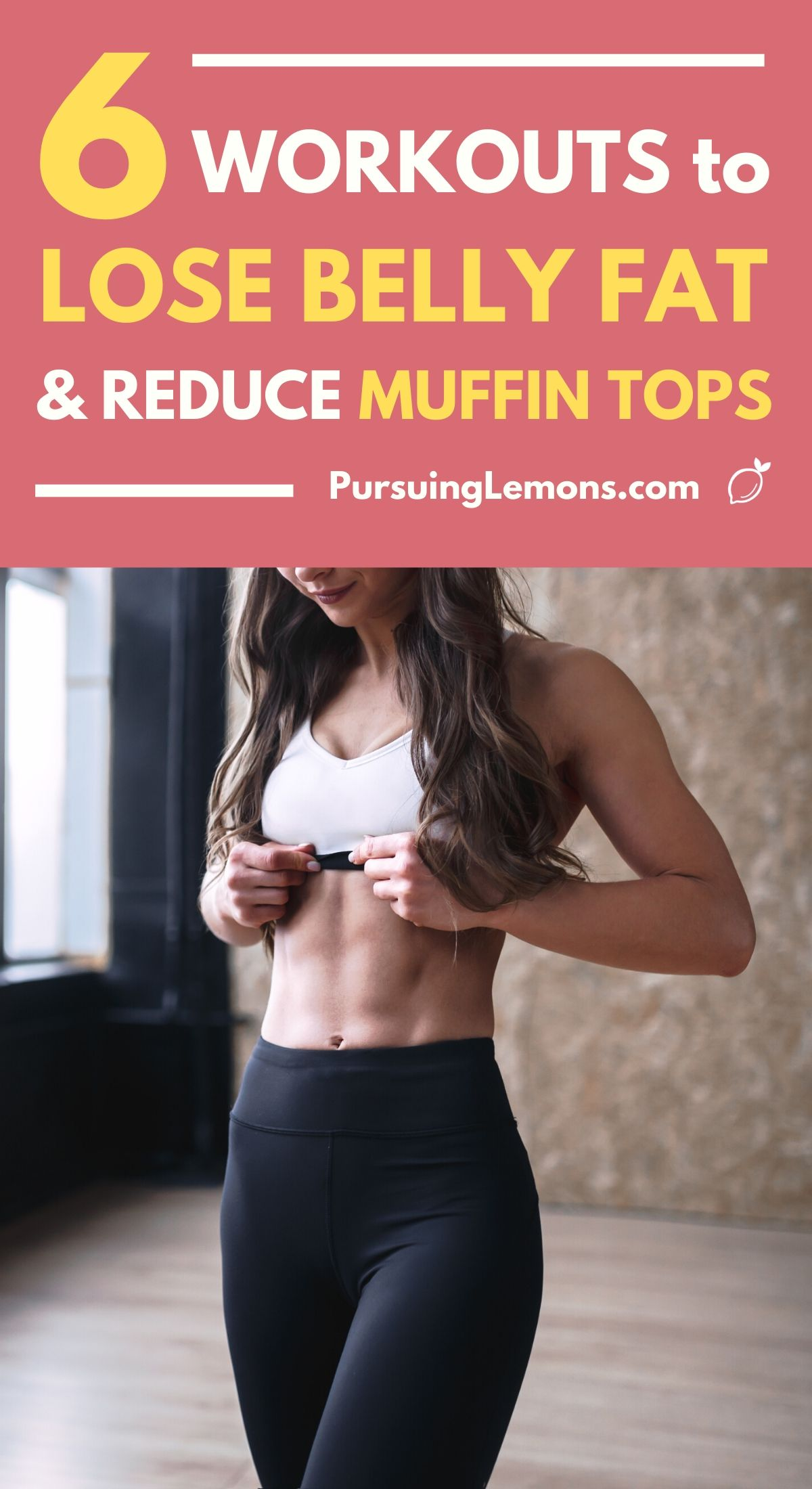 6 Workouts To Lose Belly Fats and Reduce Muffin Tops | Lose that annoying belly fat with these abs workout routines today! These core strengthening exercises you can do at home will help you start losing weight and get rid of those muffin tops! #workout #workoutathome #fitness