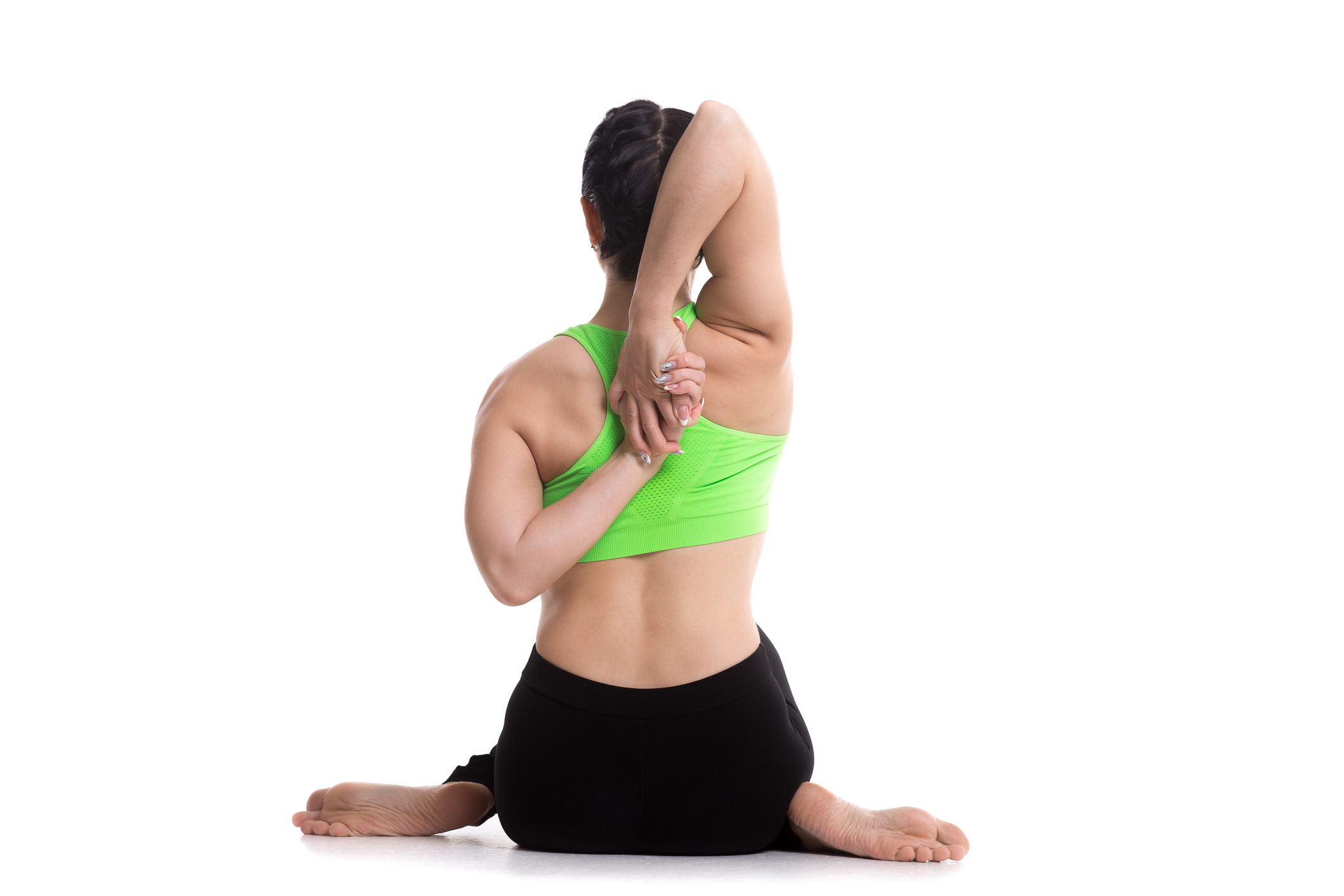 Cow Face Pose - yoga poses for correcting bad posture