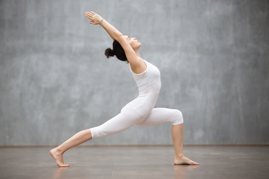 Warrior one - yoga poses for correcting bad posture