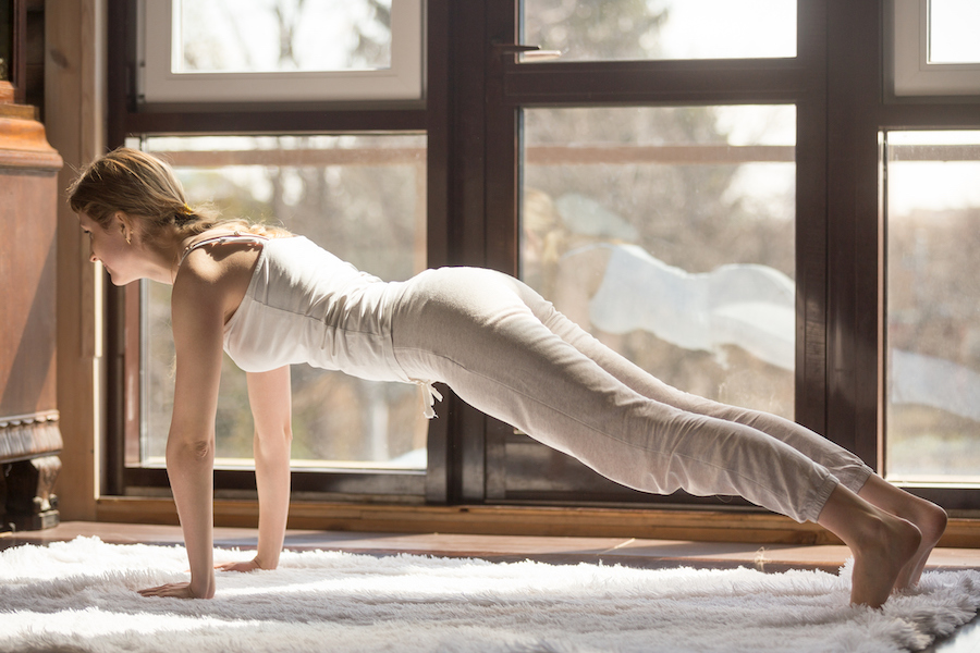 plank pose - yoga poses for correcting bad posture