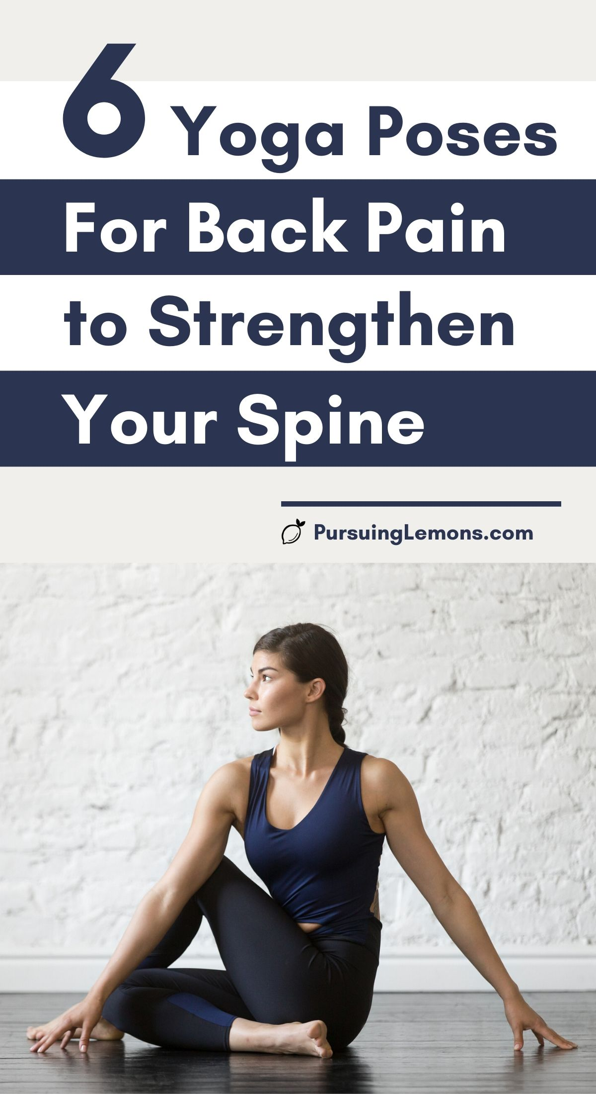 Yoga for Back Pain: 6 Poses to Strengthen Your Spine   Feeling constant upper and lower back pain? Start practicing this yoga sequence to relieve your back pain. These 6 yoga poses will help you strengthen and increase flexibility in your spine to avoid back pains in the future. #yogaposes #yogaforbackpain #yogastretches #yoga