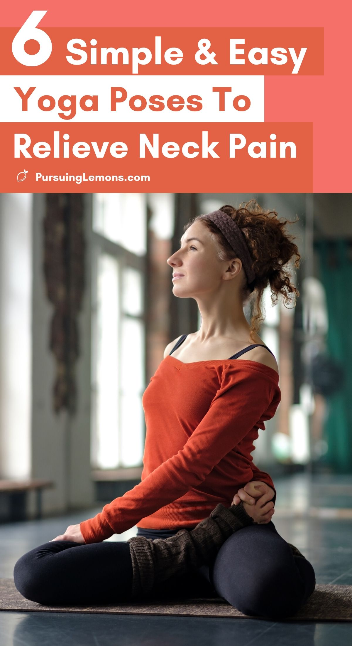 6 Easy Yoga Poses To Relieve Neck Pain   Feeling tense in the neck? Start practicing this yoga sequence every day to relieve neck pain. Make sure to do them frequently and they will help you reduce your neck stiffness and avoid neck pains in the future. #yoga #yogaposes #neckpain