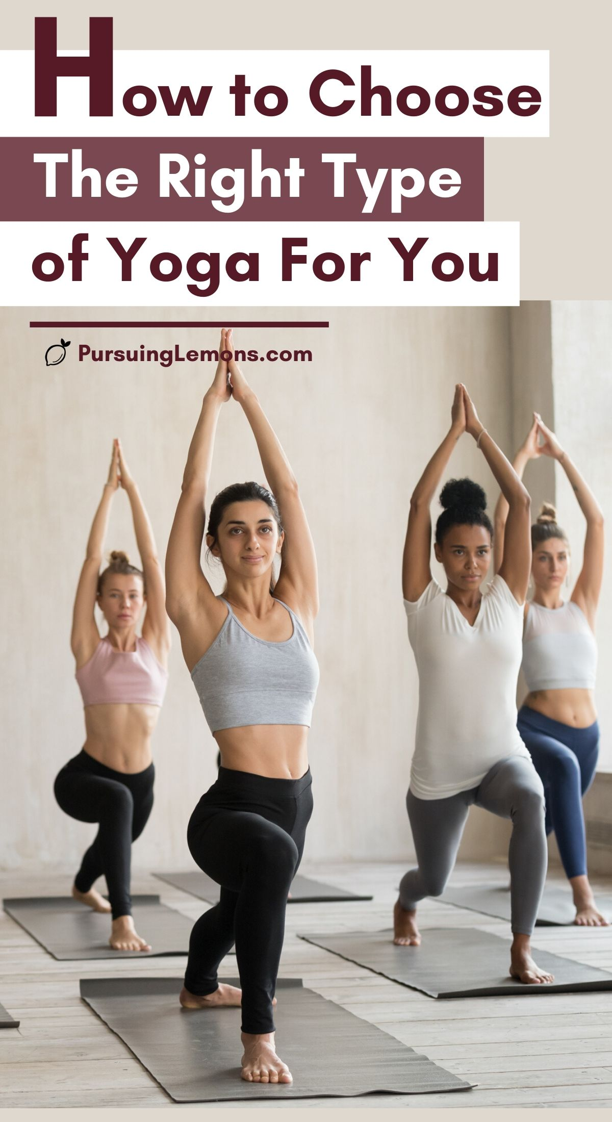 Types of Yoga: How to Choose The Right Type of Yoga For You   Choosing a style of yoga class? This is a comprehensive guide to some of the most popular styles of yoga. You will get a good understanding of each type of yoga and if it's suitable for you. Knowing a little bit of all the yoga disciplines can help you make a decision. #yoga #typesofyoga #yogastyles #yogadisciplines