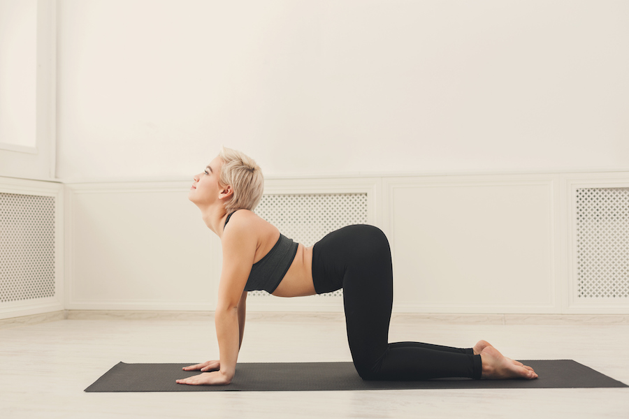 cow pose - yoga poses to relieve neck pain