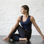 half lord of the fishes pose - yoga for back pain