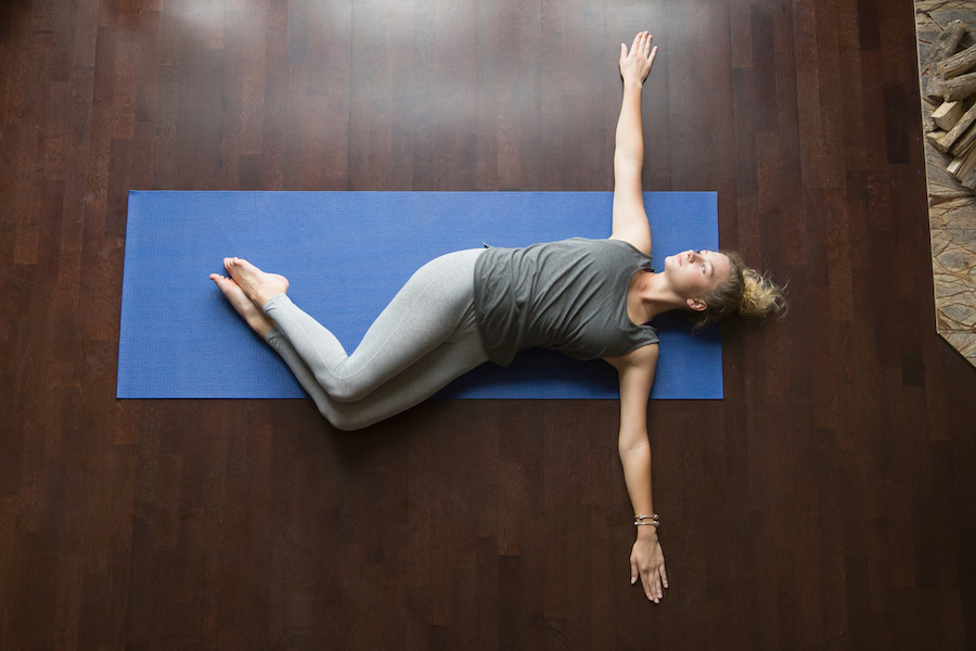 supine spinal twist - yoga for back pain