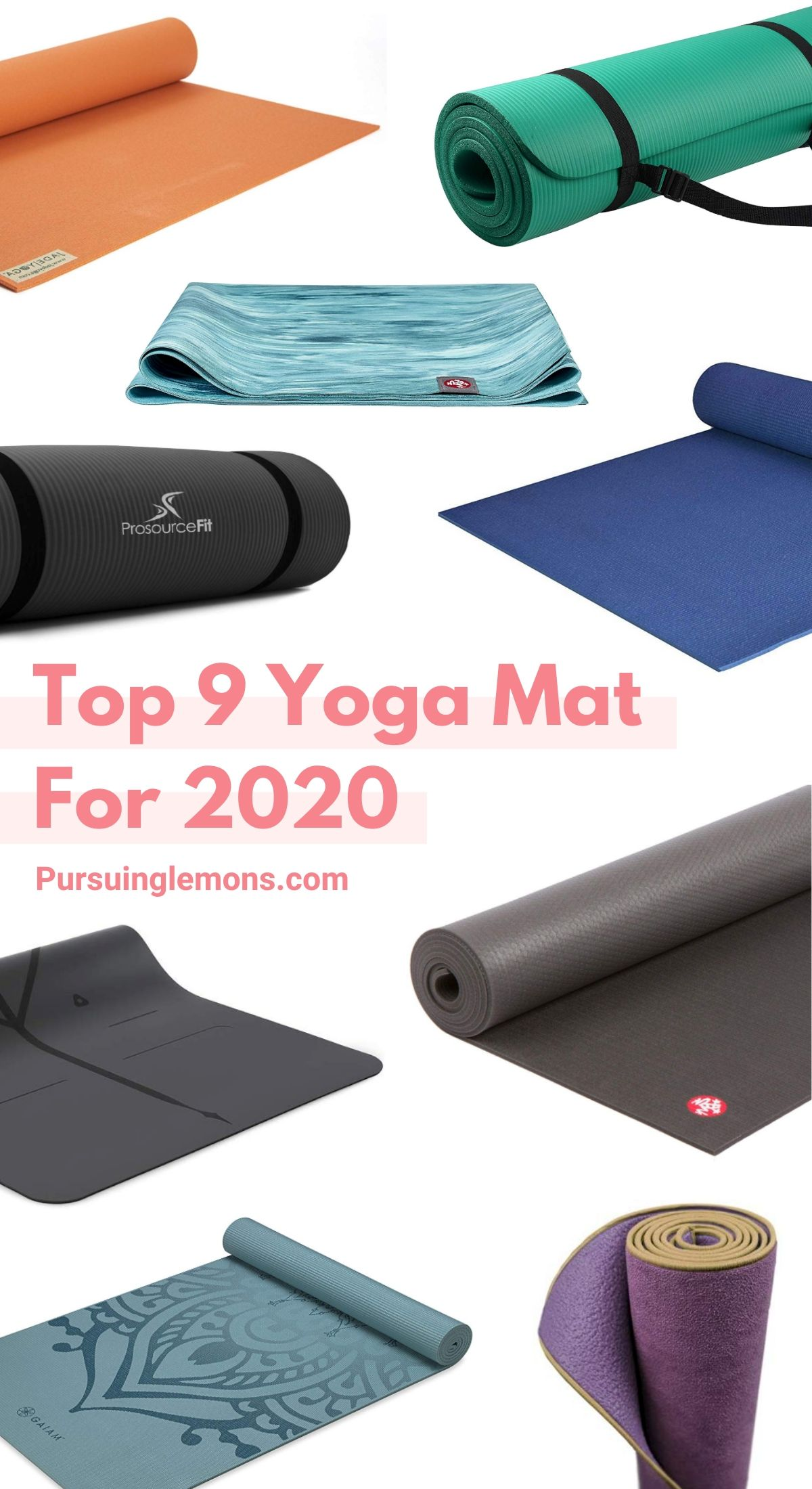 The 9 Best Yoga Mats That Will Fit Your Need | Not all yoga mats are created equal. There is the grippy mat, the thick yoga mat and some may be a thin yoga mat. They're just too many different yoga mats available. Our goal is to help you choose the perfect yoga mat! In our opinion, this is the 9 best yoga mats out there! #yoga #yogamat #mats #yogamats
