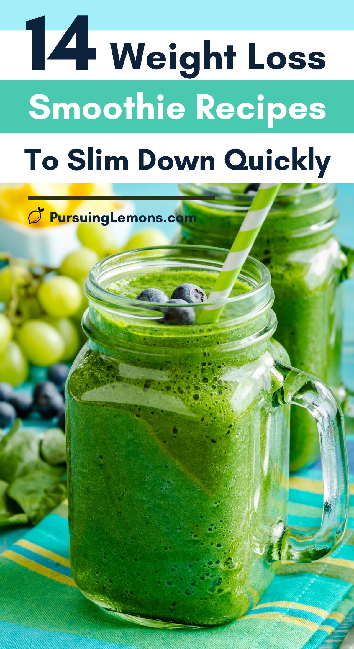 14 Weight Loss Smoothie Recipes To Slim Down Quickly | Looking for weight loss drinks? These delicious and healthy smoothies for weight loss can help you to lose weight. #healthydrinks #weightlossdrinks #weightlosssmoothies