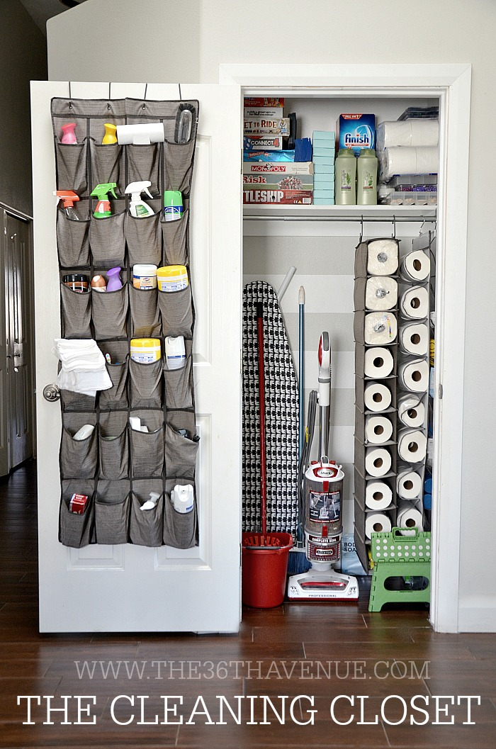 CLEANING CLOSET - Easy Home Organization Tips to Help You Start Organizing
