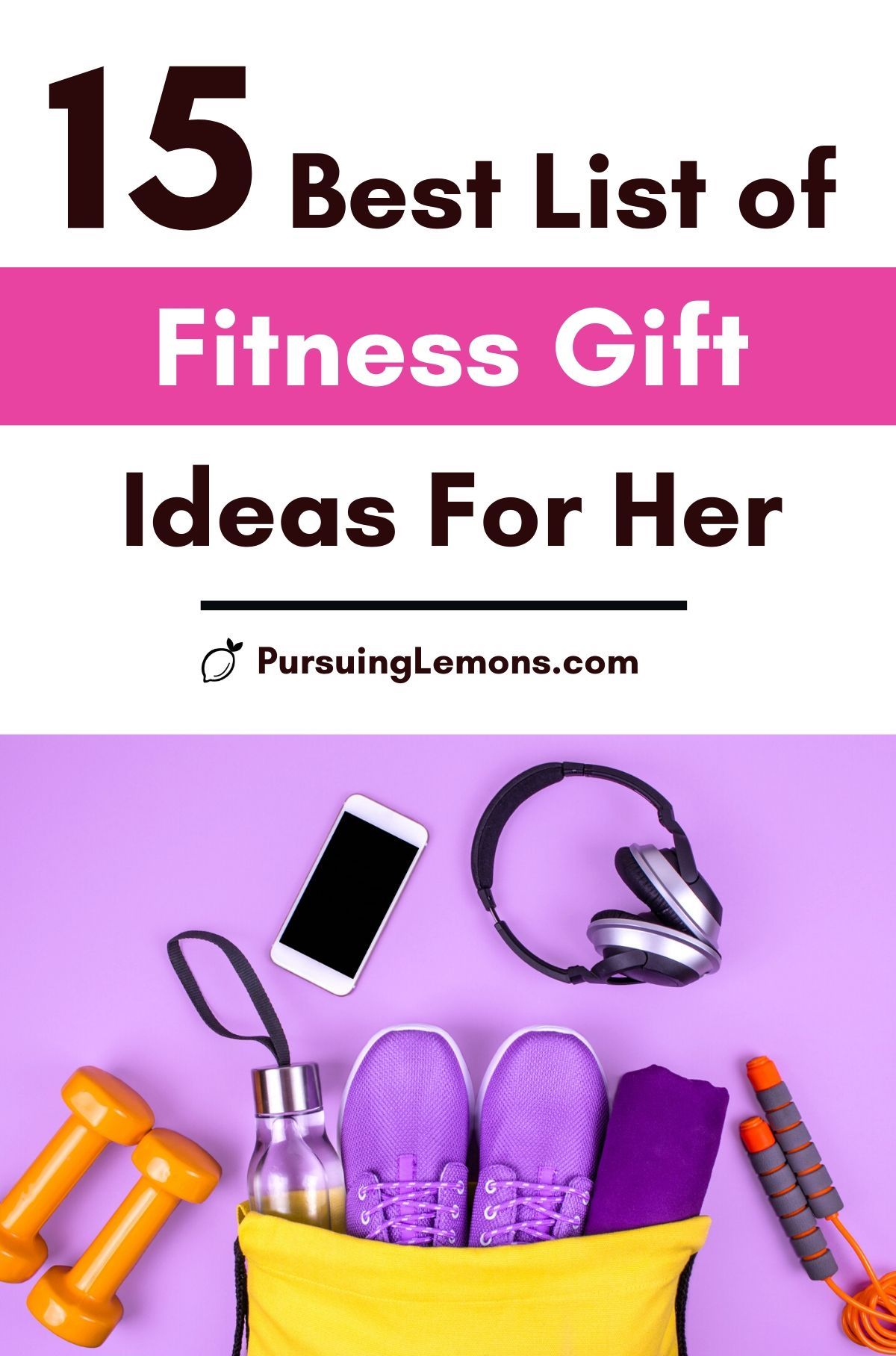 The Best List Of Fitness Gift Ideas For Her: health and fitness gifts, workout gifts for her, gym lover gifts, womens fitness gifts, best fitness gifts, and workout presents.  If you're looking for the best fitness gift ideas for her, start with this list! #fitnessgift #giftguidefitness #fitnessgiftforher