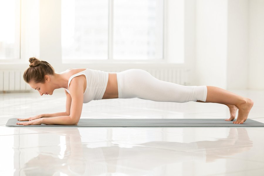forearm plank - Yoga Routine to Get Strong and Toned Arms